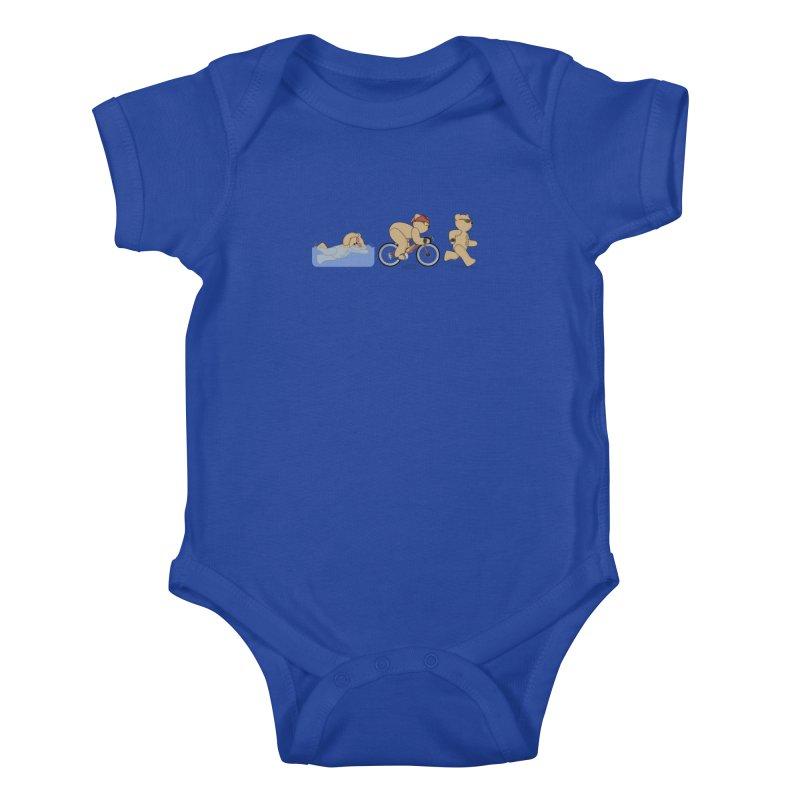 Triathlon Bear Kids Baby Bodysuit by grumpyteds's Artist Shop