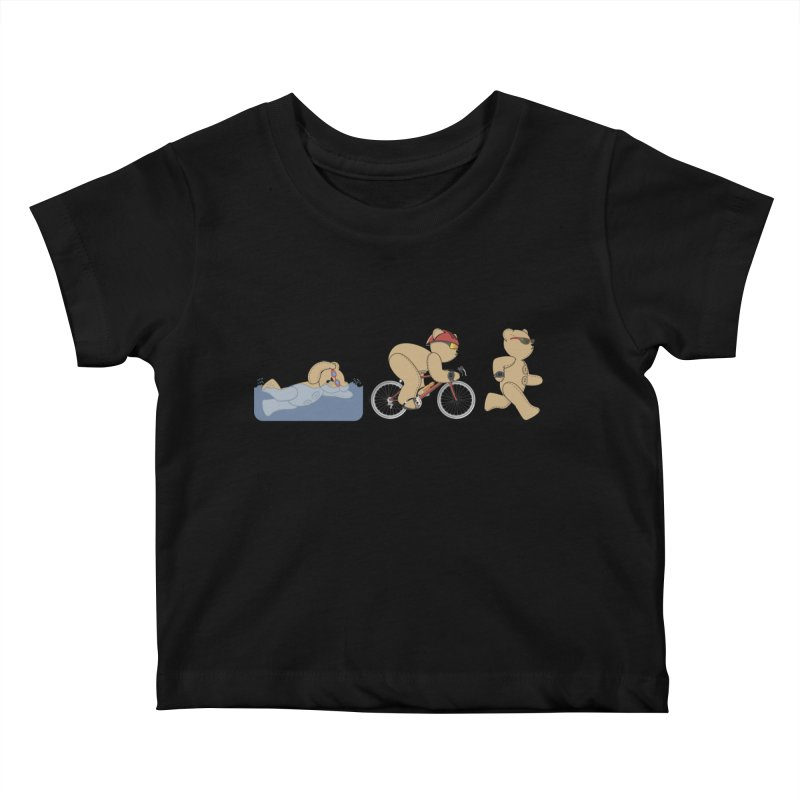 Triathlon Bear Kids Baby T-Shirt by grumpyteds's Artist Shop