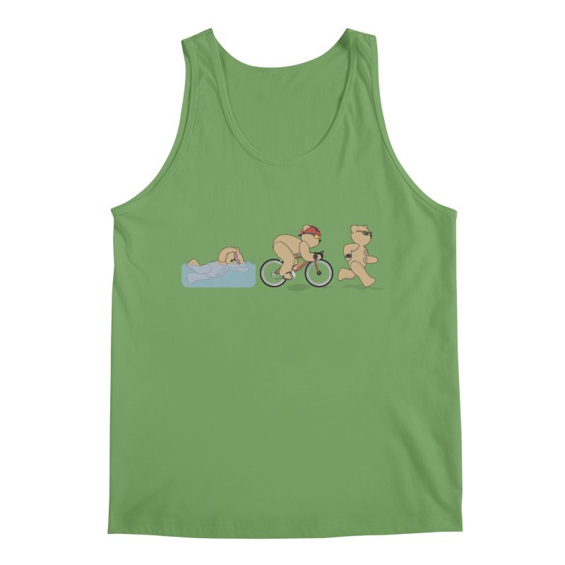 Triathlon Bear Men's Tank by grumpyteds's Artist Shop