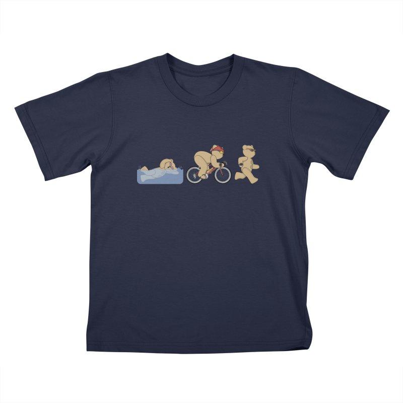 Triathlon Bear Kids T-Shirt by grumpyteds's Artist Shop