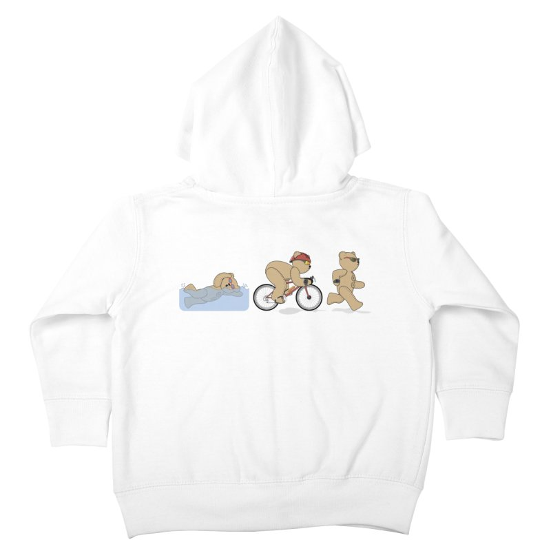 Triathlon Bear Kids Toddler Zip-Up Hoody by grumpyteds's Artist Shop