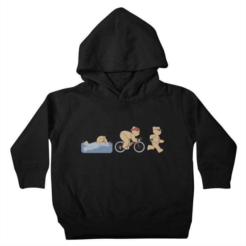 Triathlon Bear Kids Toddler Pullover Hoody by grumpyteds's Artist Shop