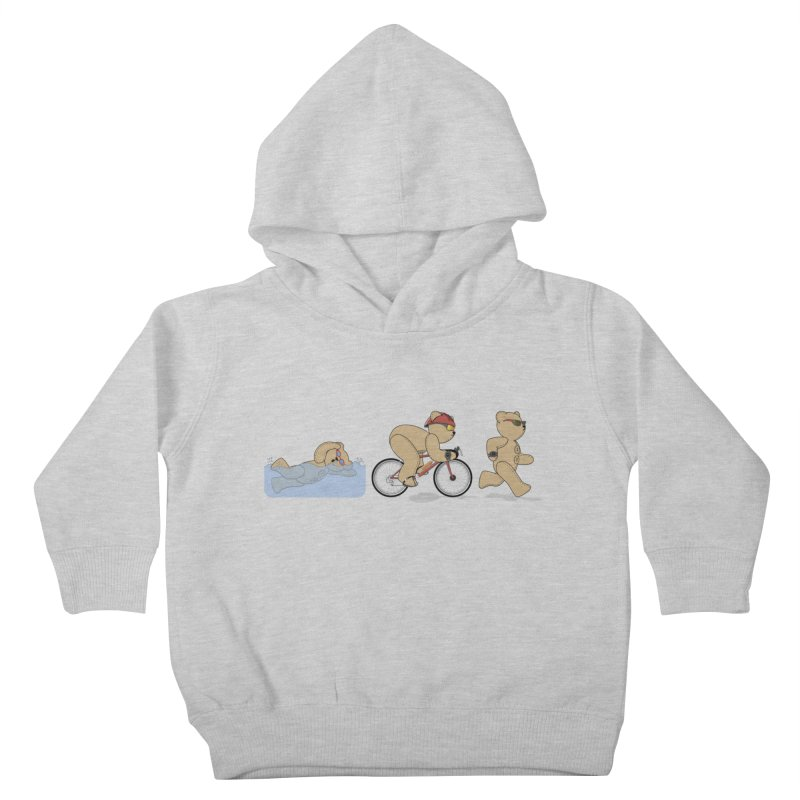 Triathlon Bear Kids Toddler Pullover Hoody by grumpyteds's Artist Shop