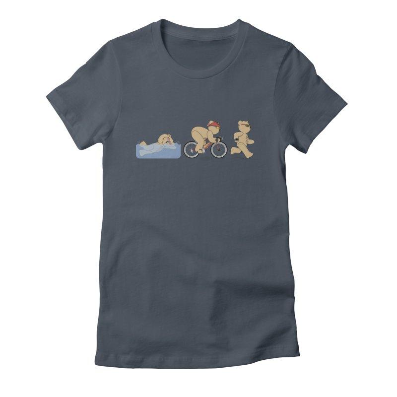 Triathlon Bear Women's T-Shirt by grumpyteds's Artist Shop
