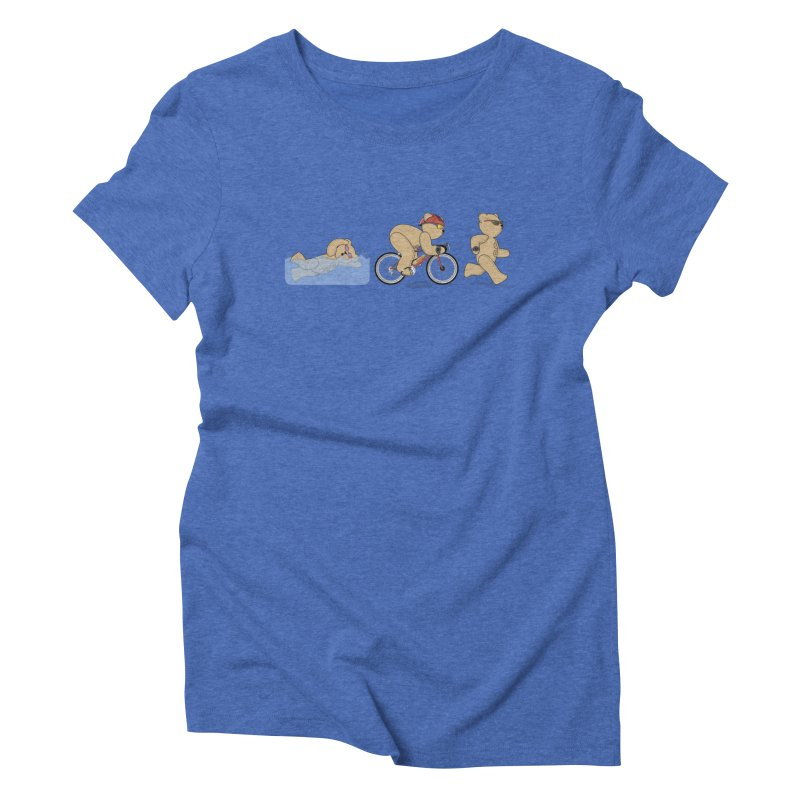 Triathlon Bear Women's Triblend T-Shirt by grumpyteds's Artist Shop