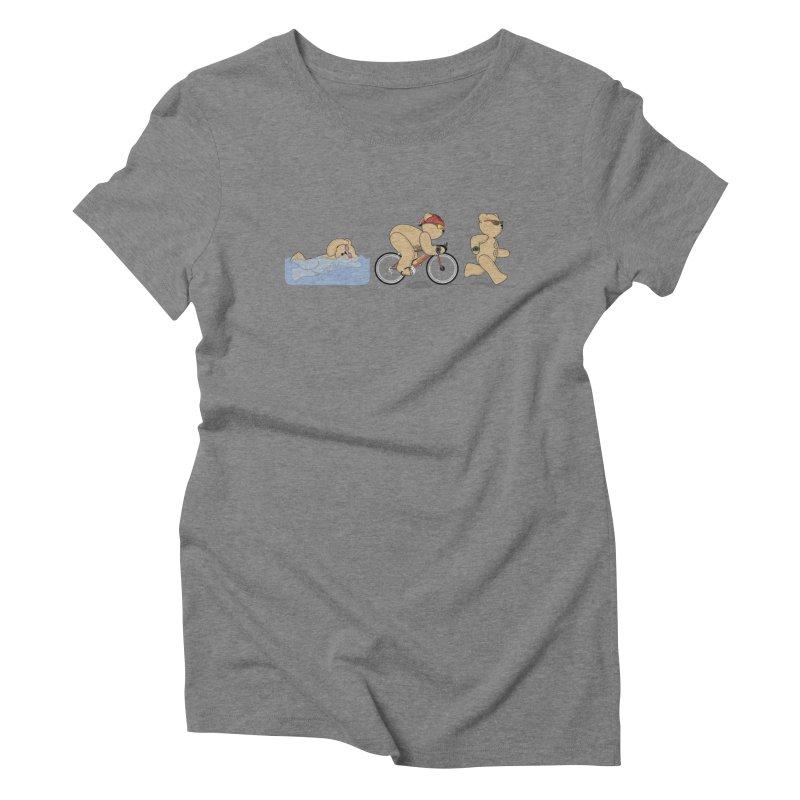 Triathlon Bear Women's Triblend T-Shirt by grumpyteds's Artist Shop