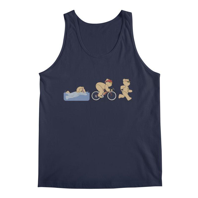 Triathlon Bear Men's Regular Tank by grumpyteds's Artist Shop