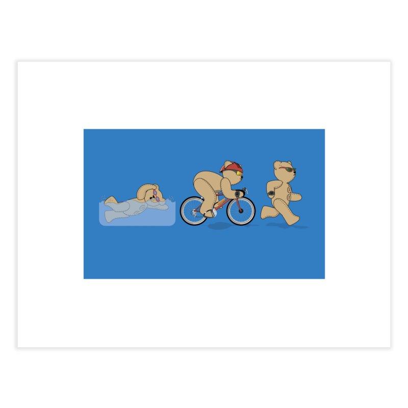 Triathlon Bear Home Fine Art Print by grumpyteds's Artist Shop