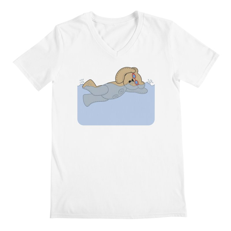 Swimming Bear Men's V-Neck by grumpyteds's Artist Shop