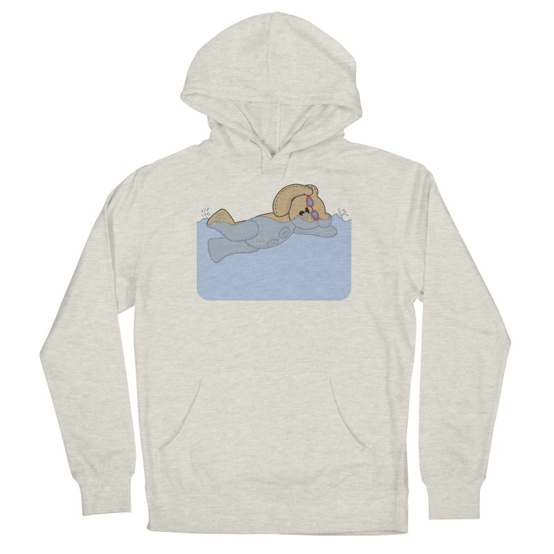 Swimming Bear Women's French Terry Pullover Hoody by grumpyteds's Artist Shop