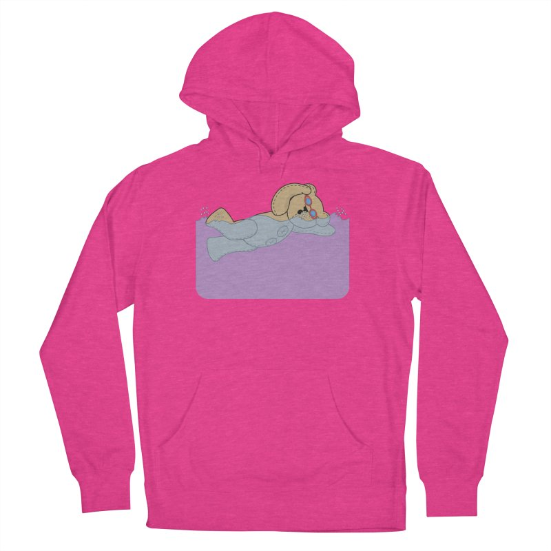 Swimming Bear Men's French Terry Pullover Hoody by grumpyteds's Artist Shop