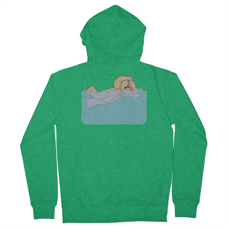 Swimming Bear Women's Zip-Up Hoody by grumpyteds's Artist Shop