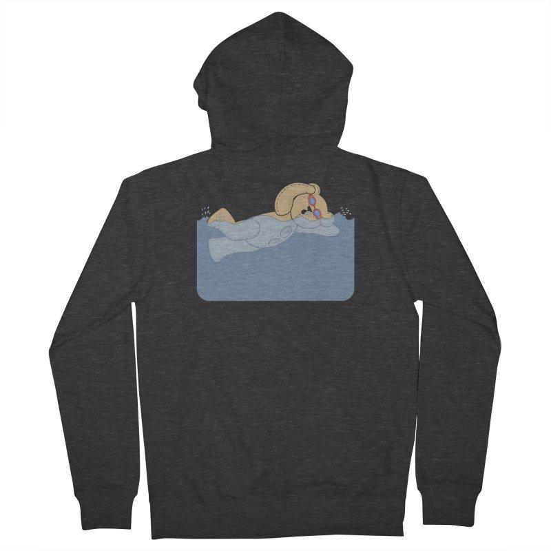 Swimming Bear Women's Zip-Up Hoody by grumpyteds's Artist Shop