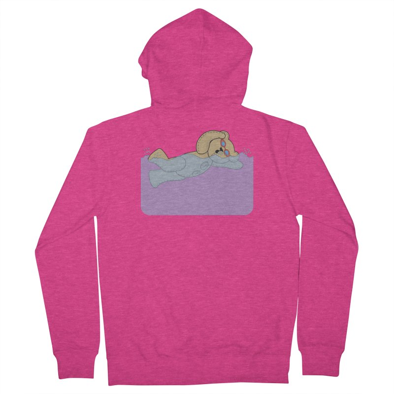 Swimming Bear Women's French Terry Zip-Up Hoody by grumpyteds's Artist Shop