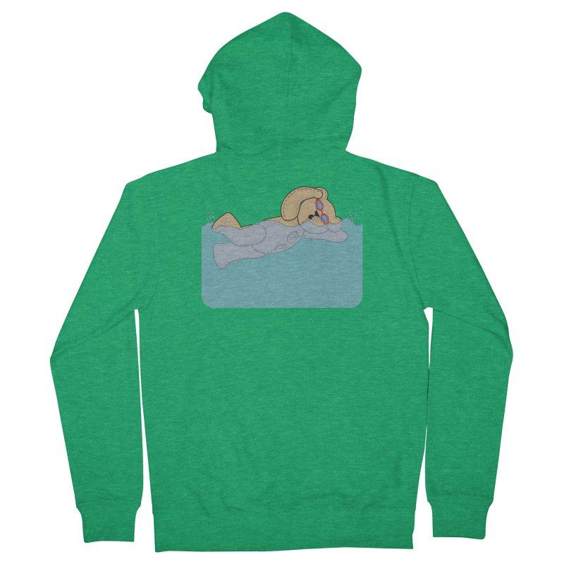 Swimming Bear Men's Zip-Up Hoody by grumpyteds's Artist Shop