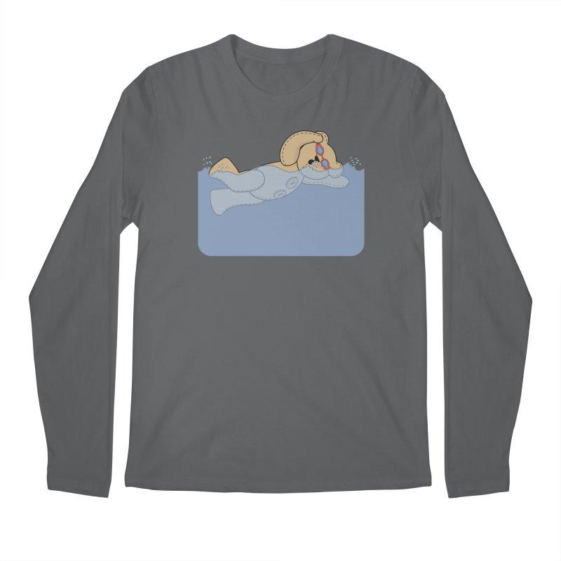 Swimming Bear Men's Longsleeve T-Shirt by grumpyteds's Artist Shop