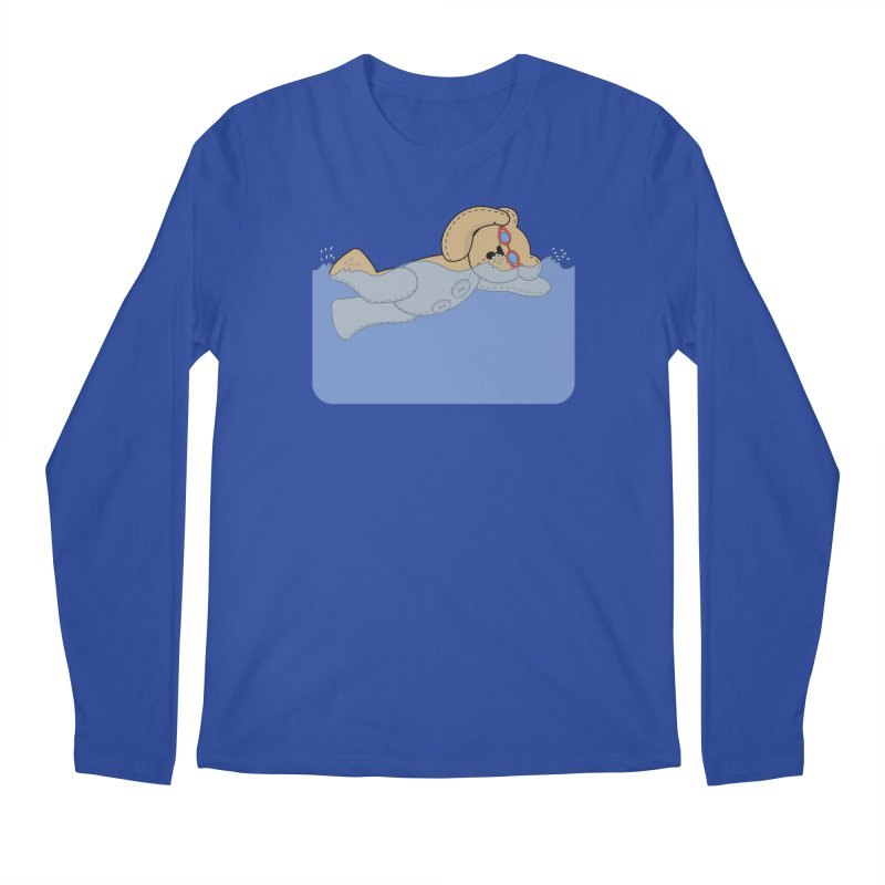 Swimming Bear Men's Regular Longsleeve T-Shirt by grumpyteds's Artist Shop