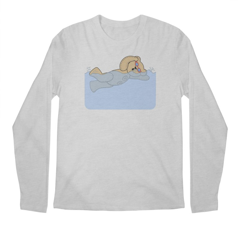 Swimming Bear Men's Regular Longsleeve T-Shirt by grumpyteds's Artist Shop
