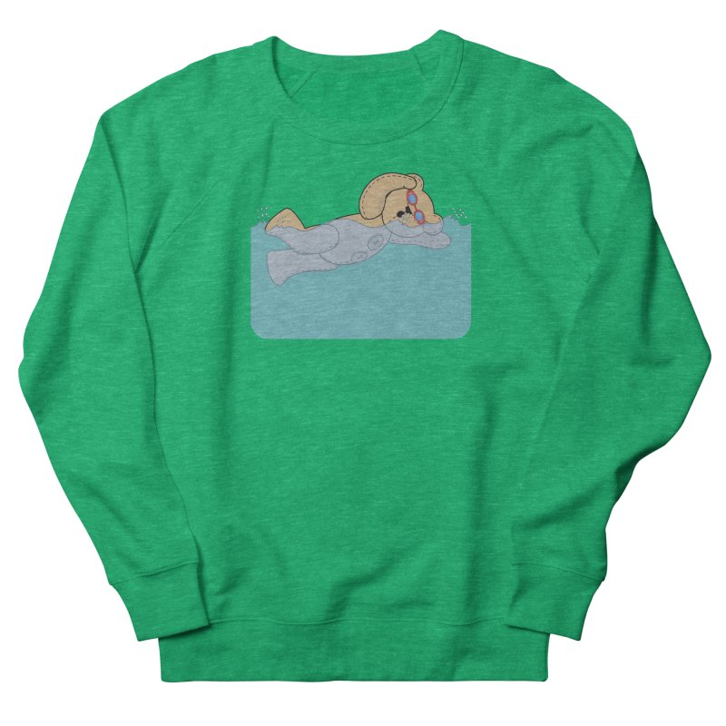 Swimming Bear Women's Sweatshirt by grumpyteds's Artist Shop