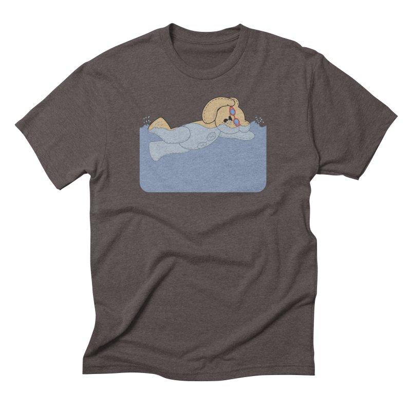 Swimming Bear Men's Triblend T-Shirt by grumpyteds's Artist Shop