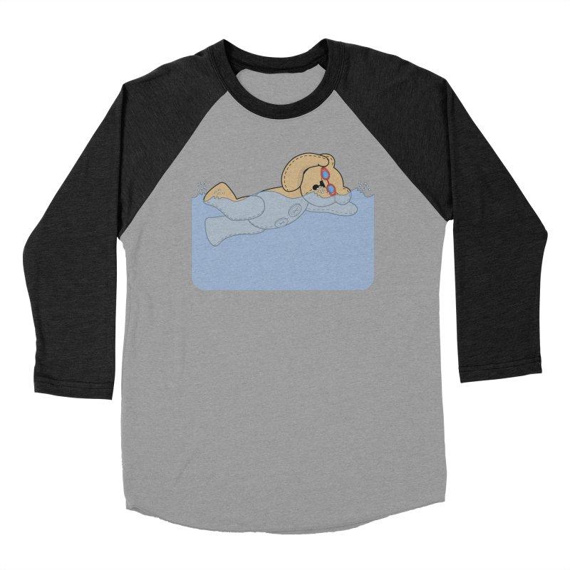 Swimming Bear Women's Baseball Triblend Longsleeve T-Shirt by grumpyteds's Artist Shop