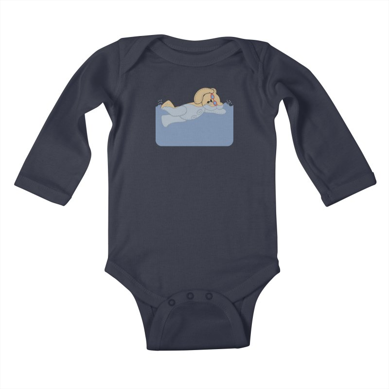 Swimming Bear Kids Baby Longsleeve Bodysuit by grumpyteds's Artist Shop