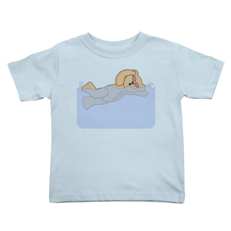 Swimming Bear Kids Toddler T-Shirt by grumpyteds's Artist Shop