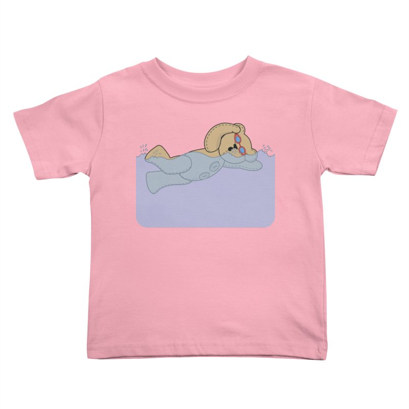 Swimming Bear Kids Toddler T-Shirt by grumpyteds's Artist Shop