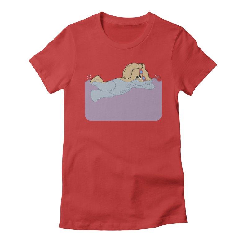 Swimming Bear Women's T-Shirt by grumpyteds's Artist Shop