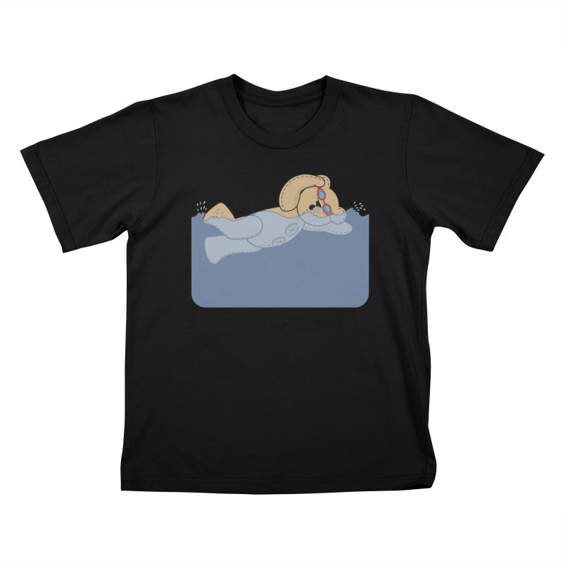 Swimming Bear Kids T-Shirt by grumpyteds's Artist Shop