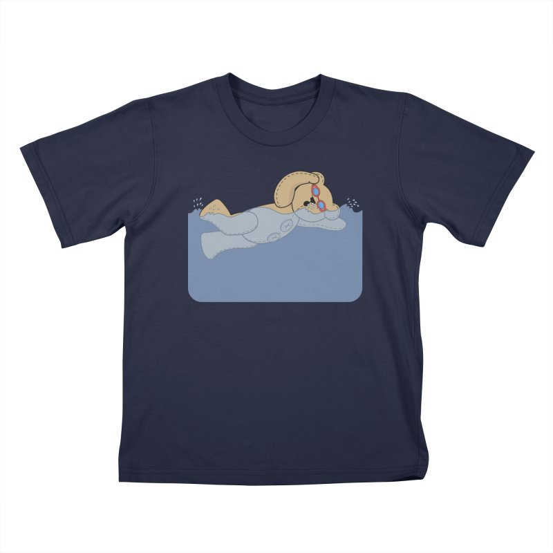 Swimming Bear Kids T-Shirt by grumpyteds's Artist Shop