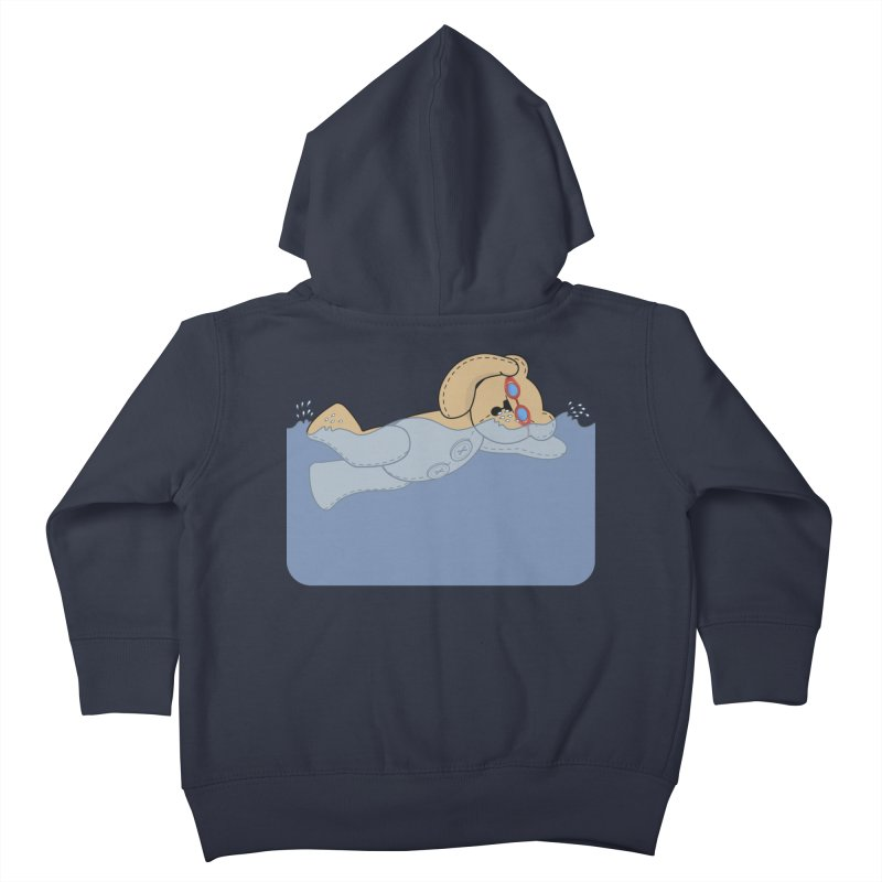Swimming Bear Kids Toddler Zip-Up Hoody by grumpyteds's Artist Shop