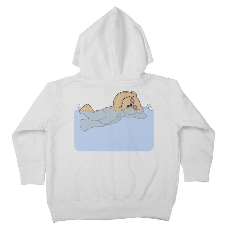 Swimming Bear Kids Toddler Zip-Up Hoody by grumpyteds's Artist Shop
