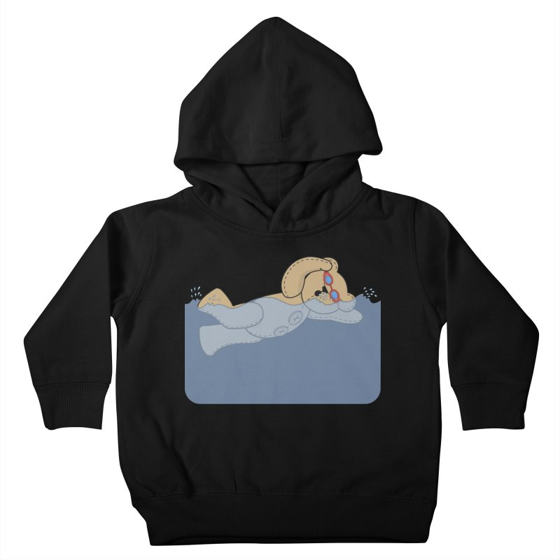 Swimming Bear Kids Toddler Pullover Hoody by grumpyteds's Artist Shop