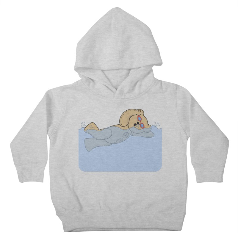Swimming Bear Kids Toddler Pullover Hoody by grumpyteds's Artist Shop