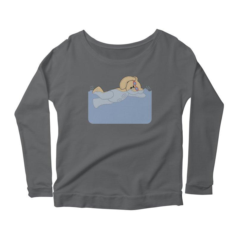 Swimming Bear Women's Longsleeve T-Shirt by grumpyteds's Artist Shop