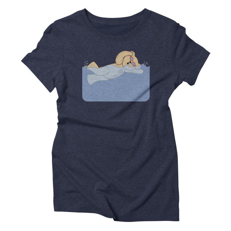 Swimming Bear Women's Triblend T-Shirt by grumpyteds's Artist Shop