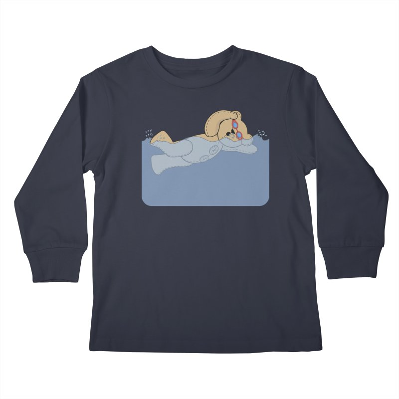 Swimming Bear Kids Longsleeve T-Shirt by grumpyteds's Artist Shop