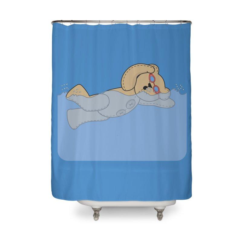 Swimming Bear Home Shower Curtain by grumpyteds's Artist Shop