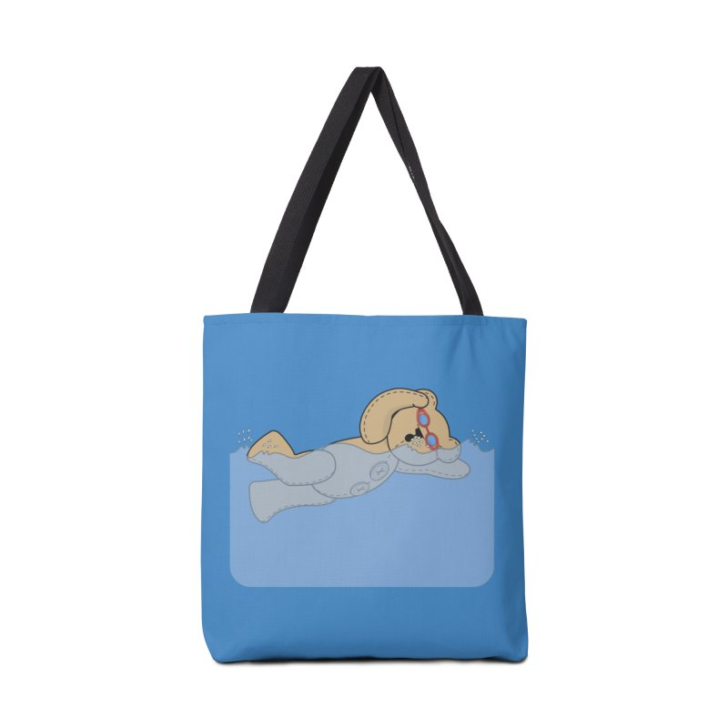 Swimming Bear Accessories Tote Bag Bag by grumpyteds's Artist Shop