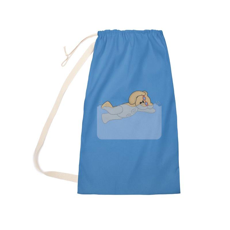 Swimming Bear Accessories Bag by grumpyteds's Artist Shop