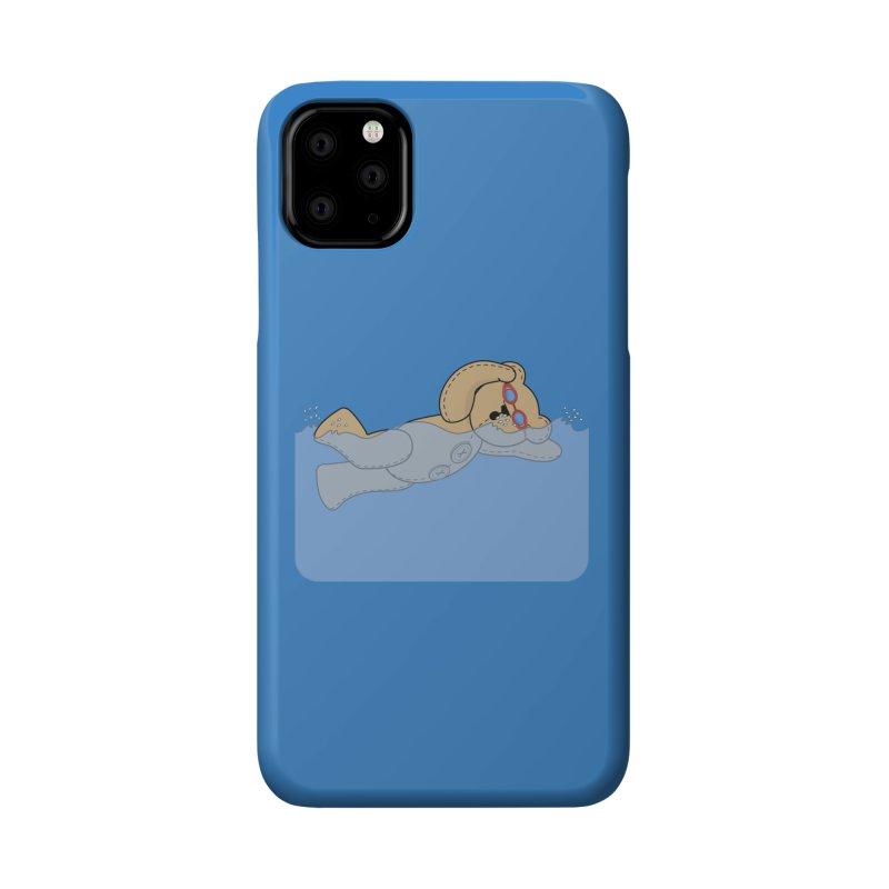 Swimming Bear Accessories Phone Case by grumpyteds's Artist Shop