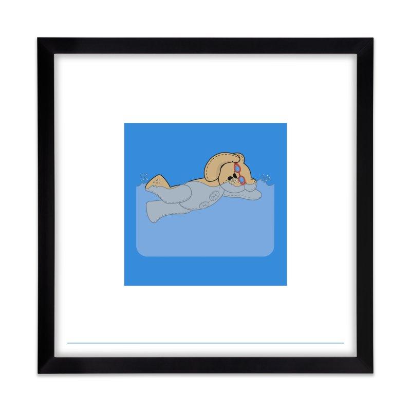 Swimming Bear Home Framed Fine Art Print by grumpyteds's Artist Shop