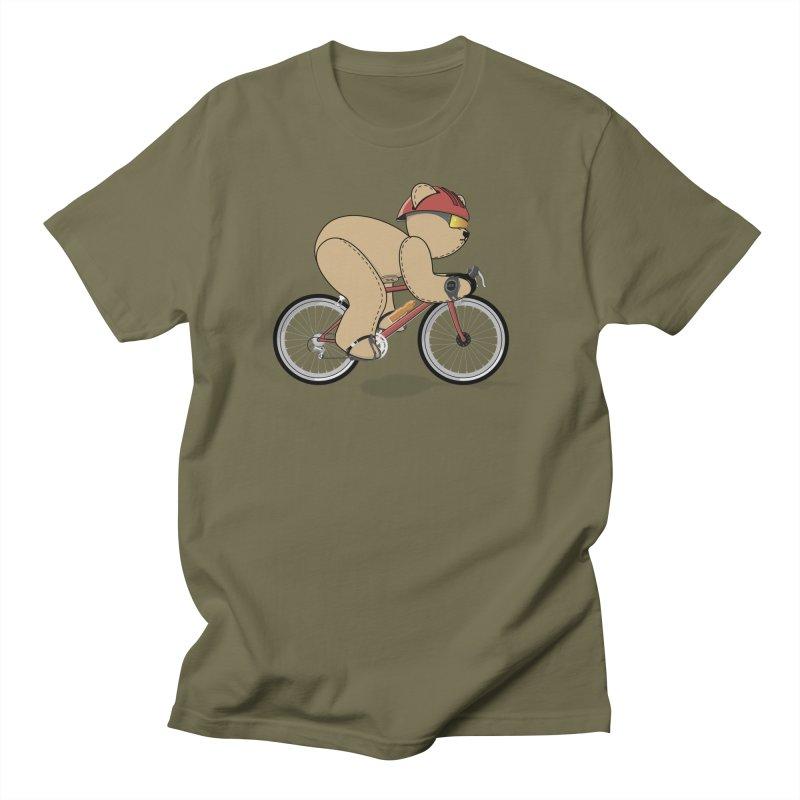 Cycling Bear Men's T-Shirt by grumpyteds's Artist Shop