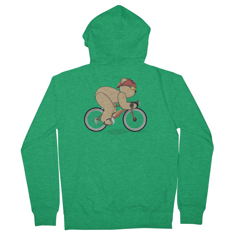 Cycling Bear Men's Zip-Up Hoody by grumpyteds's Artist Shop