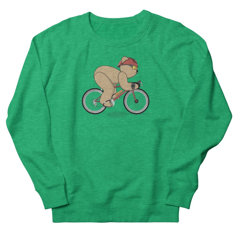 Cycling Bear Women's Sweatshirt by grumpyteds's Artist Shop