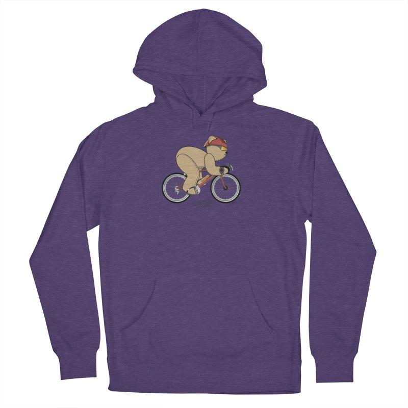 Cycling Bear Men's Pullover Hoody by grumpyteds's Artist Shop