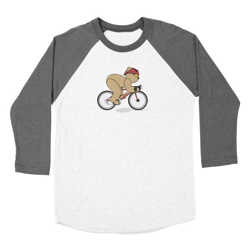 Cycling Bear Women's Longsleeve T-Shirt by grumpyteds's Artist Shop
