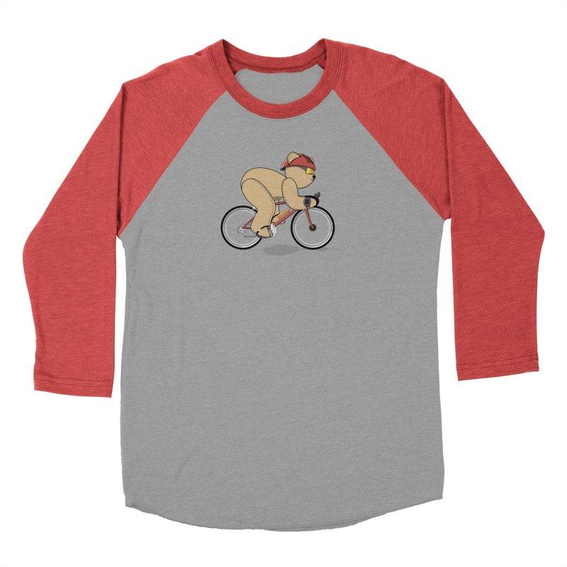 Cycling Bear Men's Longsleeve T-Shirt by grumpyteds's Artist Shop
