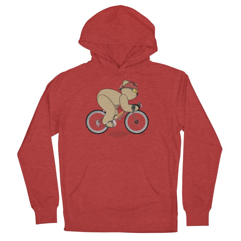 Cycling Bear Women's French Terry Pullover Hoody by grumpyteds's Artist Shop